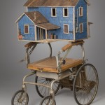 "Burned House 2012 wood, steel, paint, found objects 51""x27""x38"""