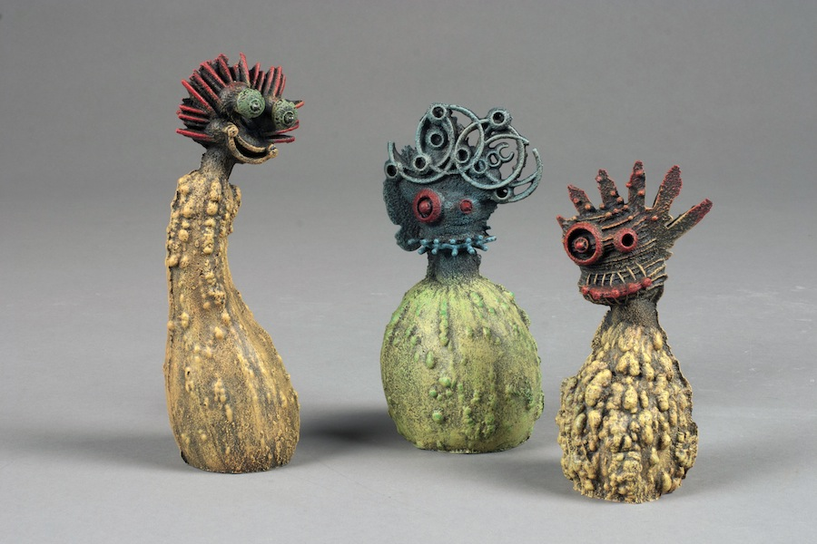 "Gourd Crew,2012cast iron, paint, patinalargest is 6""x2.5""x2.5"""