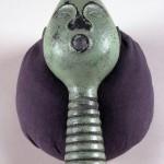 """Opsus 2003 cast bronze, paint, patina 8""""x6""""x5"""""""