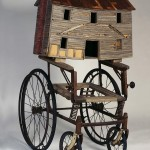 """Pack House 1997 wood, steel, found objects 48""""x26""""x32"""""""