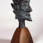 "Sawtooth 2003 cast bronze, paint, patina 16""x8""x5"""