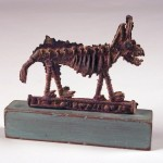 "Small Coyote  2005 cast bronze, paint 7""x6""x2"""