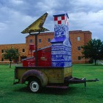Texas Two Step 2000 painted steel, found objects 11'x7'x12'