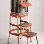 "Tobacco Barn (Tar Paper) 2003 wood, steel, paint, found objects  38""x14""x20"""
