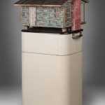 """Westinghouse 2012 wood, steel, found objects, paint 60""""x15""""x15"""""""