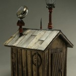 """After Dark 2001 wood, steel, paint, found objects 18""""x13""""x10"""""""