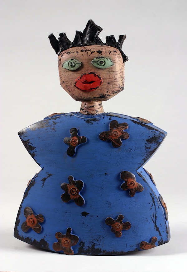 "Aunt Tillie 2006 cast bronze, paint, patina 25""x16""x8"""