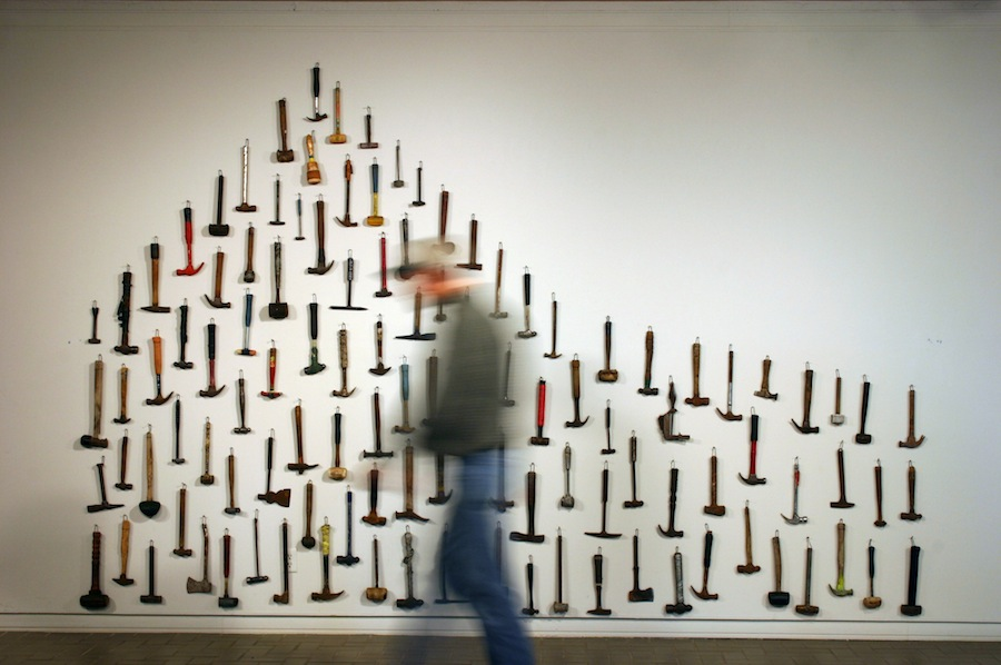 Hammers first installed in 2003 (continues to evolve) found objects 10'x18'