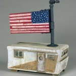"Ole Glory 2010 wood, steel, paint, found objects 38""x14""x20"""