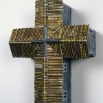 """Southern Cross (Blue) 2004 wood, steel 18""""x14""""x7"""""""
